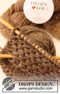 Knitting Stitches, Knitting Patterns Free, Knit Patterns, Free Knitting, Free Pattern, Drops Design, Crochet Lingerie, Drops Patterns, Knit Picks