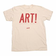Art! Tee Mens Cream