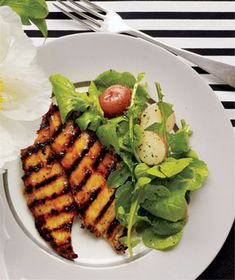 Marmalade Chicken With Arugula and Potato Salad from realsimple.com. #myplate #protein #vegetables