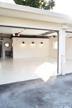 The Garage Remodel! Come take a look at the Before and After Photos! Garage Office, Garage Loft, Garage Studio, Garage House, Gym In Garage, Garage Boutique, Garage Transformation, Garage To Living Space, Workshop