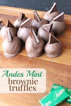 Andes Mint Brownie Truffles | 5DollarDinners.com