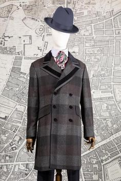 As it was in the time of the Jago the street is our stage! British Hats, Double Breasted, Black And Grey, Menswear, Coat, Check, Sleeves, Jackets, Clothes