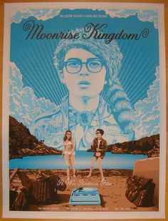 """2013 """"Moonrise Kingdom"""" - Movie Poster by Tracie Ching"""