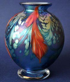 Isle Of Wight Glass Richard Golding Glass Bath Aqua Glass B&W Thornton Of Stratford