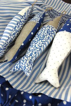 Fish - fabric stuffed coastal decor