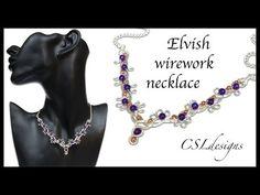 Elvish wirework necklace - YouTube