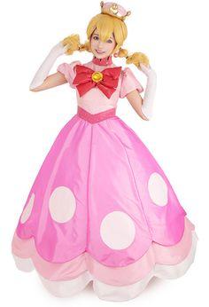 Princess Peach Dress, Princess Peach Cosplay, Costume Dress, Cosplay Costumes, Mario Cosplay, Amazing Cosplay, Mario Bros, Disney Princess, Halloween