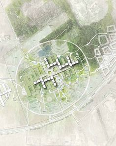 CF moller was short-listed to be Denmark& largest hospital - designboom Masterplan Architecture, Healthcare Architecture, Architecture Panel, Architecture Graphics, Architecture Portfolio, Architecture Drawings, Architecture Design, Architecture Diagrams, Architecture Master Plan