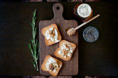 Goat Cheese, Walnut & Lavender Honey