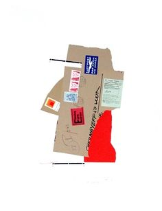 Ivan Chermayeff  Hands and Face  I really wish I had some envelopes with stamps on, it seems to tell a bit more of a story. It's cool with this piece how it is literally just using collaged pieces and no hand drawing to create facial features that are easily recognisable.