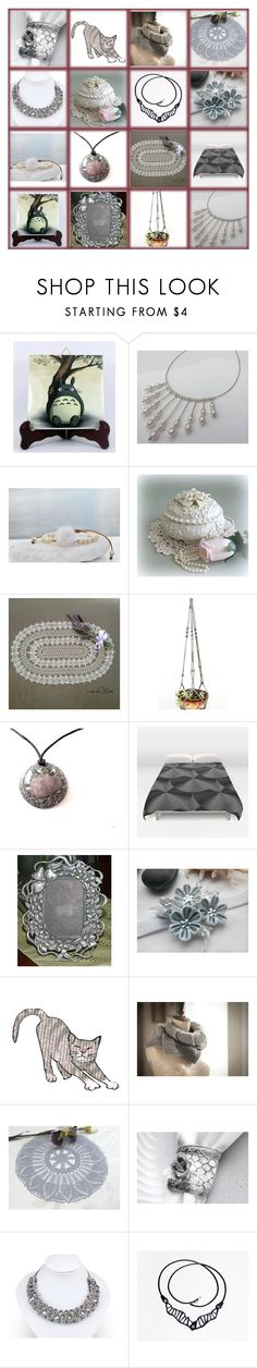 """Silver Rose"" by oxysfinecrafts ❤ liked on Polyvore featuring Del Gatto"