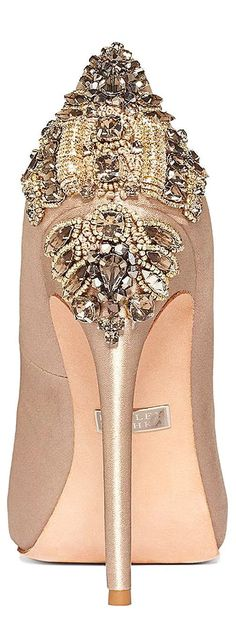 Badgley Mischka Dree II evening pumps ~ Colette Le Mason @}-,-;—