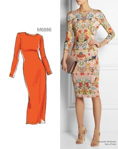 Sew the Look: McCall's M6886 knit dress sewing pattern