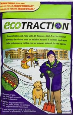 eco traction the eco-friendly product to replace road salt! pet friendly, kid friendly and more!