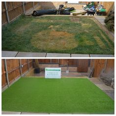 The difference artificial grass makes to your garden.
