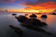 Marina, Sunrise, Mar, Por La Mañana