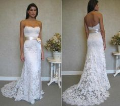 Full Length Lace Wedding Dress  Inspired by by bridalblissdesigns, $759.00