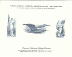 B268 BEP Souvenir Card ANA 2003 The Flag Intaglio Print
