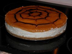 Cheesecake med kiksebund og rabarbermarmelade