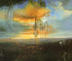Landscape Near Figueras Salvador Dali | Salvador Dali Paintings