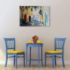 15% Sale Natalia Bravarnik A Street Canvas Paint by MyJewishArt