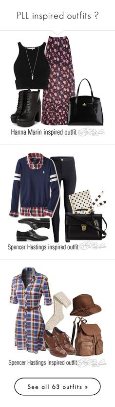 """""""PLL inspired outfits ♥"""" by tvdsarahmichele ❤ liked on Polyvore featuring Jonathan Simkhai, Vivienne Westwood, Amber Sceats, H&M, U.S. Polo Assn., Madewell, Kate Spade, Yves Saint Laurent, Henri Bendel and LE3NO"""