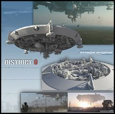 Printable District 9 Mothership by rm1732 - Thingiverse
