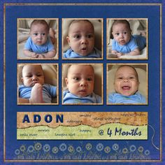 baby scrapbook page