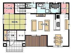 間取りブログ!!-間取り Gaudi, House Floor Plans, Interior Architecture, Loft, Flooring, How To Plan, Design, Home Decor, Arquitetura