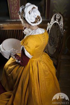 Europe Traditional Costume XVI Century - surcoat, kirtle dress, chemise