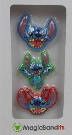 Disney-Parks-Magic-Band-Bandits-Stitch-Wrist-Charms-Set-of-3-New