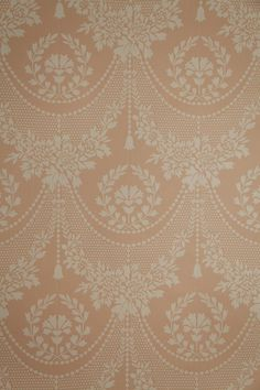 "Vintage Wallpaper ""Quincy Lace"" by Waterhouse Wallhangings 