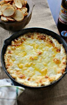 Baked white cheddar leek dip from Simply Scratch