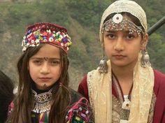 Kashmir kids in local traditional dresses, Azad Kashmir, Pakistan