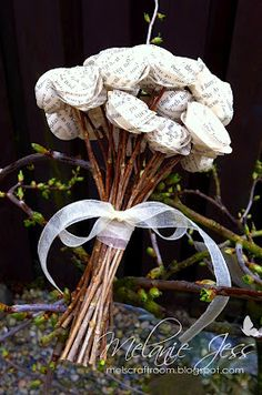 book page flowers - maybe for decorations or rehearsal?