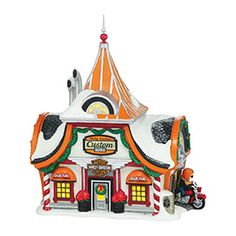 """Department 56: Products - """"North Pole Harley-Davidson®"""" - View Lighted Buildings"""