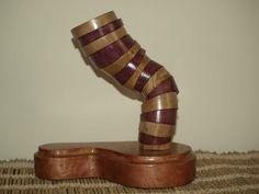 """Scultura legno arte moderna astratta """"Twister Violet"""" di WoodArtFantasy su Etsy"""