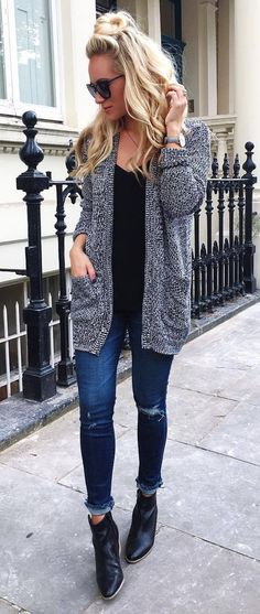 I like the cardigan style (long and straight) with pockets. I like the color and pattern/texture too.