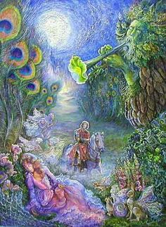 Art by great Artist, Josephine Wall. She has so many beautiful pieces. They each have many stories in each painting.