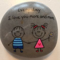 Yes I do, Christopher Robins Pebble Painting, Pebble Art, Stone Painting, Stone Crafts, Rock Crafts, Arts And Crafts, Rock Painting Ideas Easy, Rock Painting Designs, Caillou Roche