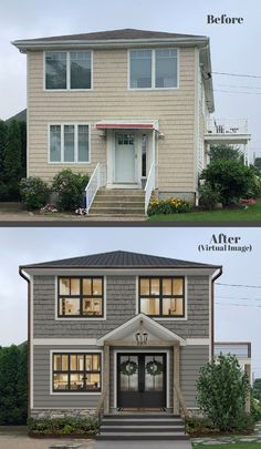 From comfortable furniture to outdoor speakers, we've found 20 front porch ideas that take your curb appeal to the next level. House Paint Exterior, Exterior House Colors, Exterior Design, Home Exterior Makeover, Exterior Remodel, House Makeovers, Design Living Room, House Front, Front Porch