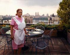 Joel Sternfeld: Stranger Passing Domestic Worker Setting The Table, New York, New York, August 1993 from Stranger Passing