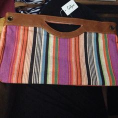 Forever 21 multi colored clutch Fun and great for spring. Never used - tags still on! Forever 21 Bags Clutches & Wristlets