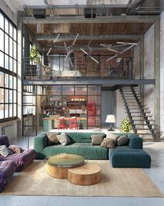 """7,541 Likes, 64 Comments - ᴀ ʀ ᴛ s ʏ ᴛ ᴇ ᴄ ᴛ ᴜ ʀ ᴇ. (@artsytecture) on Instagram: """"Industrial Loft. By Golovach Tatiana & Andrey Kot  Located in Budapest, Hungary #artsytecture…"""""""