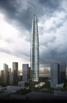 Wuhan Greenland Center by Adrian Smith + Gordon Gill Architecture in Wuhan, China