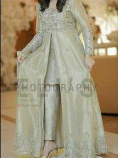 A-Line Wedding Dresses Collections Overview 36 Gorgeou… Pakistani Fancy Dresses, Beautiful Pakistani Dresses, Pakistani Fashion Party Wear, Pakistani Wedding Outfits, Indian Fashion Dresses, Pakistani Dress Design, Pakistani Frocks, Fancy Dress Design, Bridal Dress Design