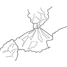 Top 10 Free Printable Volcano Coloring Pages Online Coloring Pages Shape Coloring Pages Volcano Pictures