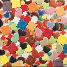 Craft Supplies: 10 Pounds Of Ceramic Tile Shapes for Mosaic Making Mosaic Projects, Diy Craft Projects, Diy Crafts, Craft Ideas, Mosaic Supplies, Craft Supplies, Fun Arts And Crafts, Crafts For Kids, Buy Tile