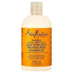SheaMoisture's Low Porosity Baobab & Tea Tree Oils Protein-Free Shampoo gently cleanse to remove product build-up and deliver balanced, nourishing hydration where hair needs it most. Low Porosity Hair Products, Hair Porosity, Sulfate Free Clarifying Shampoo, Tee Tree Oil, Tea Tree Oil Shampoo, Deep Cleansing Shampoo, Tea Tree Oil For Acne, Natural Shampoo, Natural Hair