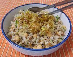 Salada de Grãos com Alho Poró Frito - Na Biroskinha